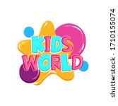 kids world comic text badge on...   Shutterstock .eps vector #1710155074