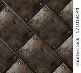grunge style metal plate... | Shutterstock . vector #171016541