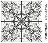 vector vintage floral ... | Shutterstock .eps vector #1710165937