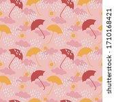 umbrellas  clouds  rain  and... | Shutterstock .eps vector #1710168421