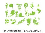 stinky smoke samples set. green ... | Shutterstock .eps vector #1710168424