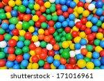 color plastic balls on ...   Shutterstock . vector #171016961