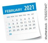 February 2021 Calendar Leaf  ...
