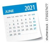 june 2021 calendar leaf  ... | Shutterstock .eps vector #1710227677