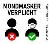 mondmasker verplicht  ...   Shutterstock .eps vector #1710236857