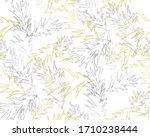 seamless pattern. floral design.... | Shutterstock . vector #1710238444