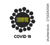 virus cartoon icon with... | Shutterstock .eps vector #1710242434