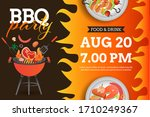 bbq party invitation  card or...   Shutterstock .eps vector #1710249367