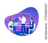 teamwork concept banner. can... | Shutterstock .eps vector #1710260167