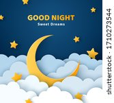good night and sweet dreams... | Shutterstock .eps vector #1710273544