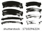 flat paint brush thin curved... | Shutterstock .eps vector #1710296224