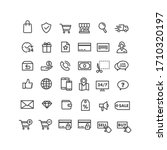 lines style web icons set  e... | Shutterstock .eps vector #1710320197