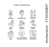 prevention line icons set... | Shutterstock . vector #1710330847