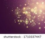 gold sparks glitter special...   Shutterstock .eps vector #1710337447