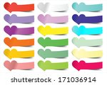 Collection Vector Heart Sticky...