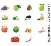 vegetarian food set with... | Shutterstock .eps vector #1710370567