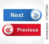 next and previous buttons ... | Shutterstock .eps vector #171037265