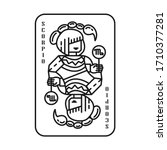 horoscope zodiac scorpio...   Shutterstock .eps vector #1710377281