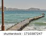 Wooden Pier On The Sea...