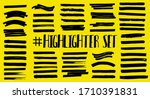 marker strips  color stroke ... | Shutterstock .eps vector #1710391831