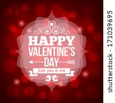 valentines day invitation... | Shutterstock . vector #171039695