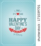valentines day blue light... | Shutterstock . vector #171039701