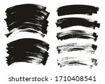 flat paint brush thin curved... | Shutterstock .eps vector #1710408541