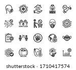 coronavirus icons. medical mask ... | Shutterstock .eps vector #1710417574