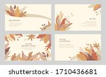 set of vector abstract autumn... | Shutterstock .eps vector #1710436681