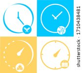 set of time  clock. concept of...