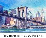 Views On Brooklyn Bridge. New...