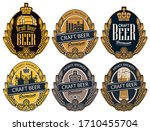 set of six vector labels for... | Shutterstock .eps vector #1710455704