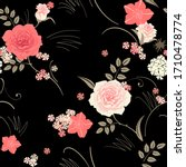 seamless pattern with flowers... | Shutterstock .eps vector #1710478774