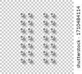 digital dotted pause symbol....