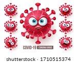 corona virus covid19 emoji... | Shutterstock .eps vector #1710515374