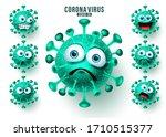 novel corona virus emoticons... | Shutterstock .eps vector #1710515377