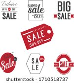 red and black colour sale... | Shutterstock .eps vector #1710518737