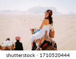 Asian Young Woman Tourist In...