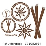 Cinnamon. Isolated Logo On...