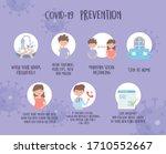 covid 19 pandemic prevention ... | Shutterstock .eps vector #1710552667