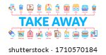 take away food and drink... | Shutterstock .eps vector #1710570184