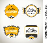 quality guarantee seals and... | Shutterstock .eps vector #171058151