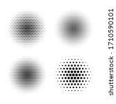 four halftone radial gradient... | Shutterstock .eps vector #1710590101