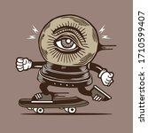 skater crystal ball... | Shutterstock .eps vector #1710599407