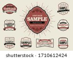 set of retro vintage badges and ... | Shutterstock .eps vector #1710612424