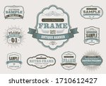 set of retro vintage badges and ... | Shutterstock .eps vector #1710612427