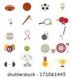 sports icons isolated on white... | Shutterstock .eps vector #171061445