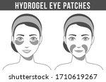 black and white illustration of ... | Shutterstock .eps vector #1710619267