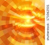 Abstract Orange Shining Circle...