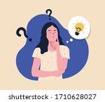 Problem Solving Concept  Woman...
